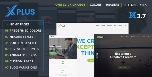 Download xPlus - Responsive Multipurpose Business Joomla Theme Job Joomla Templates
