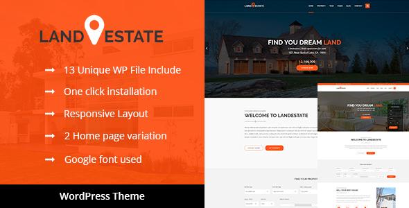 Download Land Estate - Real Estate/Single Property WordPress Theme Property WordPress Themes