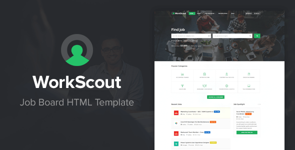 Download WorkScout - Job Board HTML Template Job Html Templates