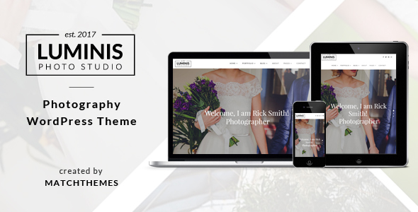 Download Luminis - Photography WordPress Theme for Wedding, Travel, Event Portfolios Fashion Blogger Templates