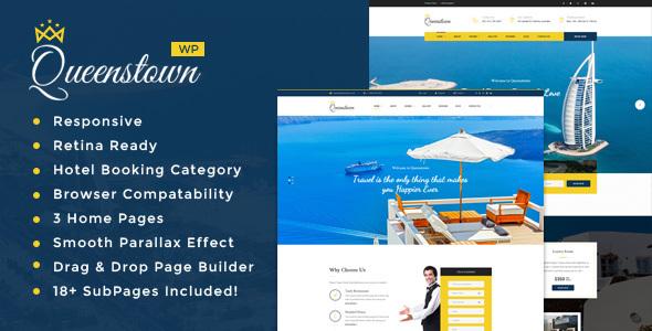 Download QueensTown : Resort and Hotel WordPress Theme Hotel WordPress Themes