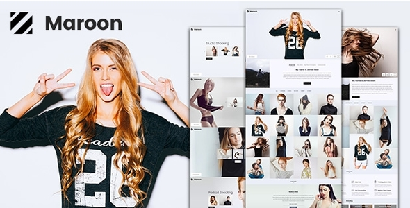 Download Photography | Maroon Photography WordPress WordPress Themes 2017