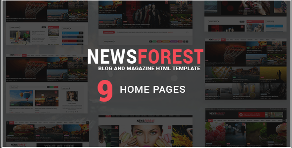 Download NewsForest -  Magazine / Blog HTML Template + RTL Adsense Html Templates