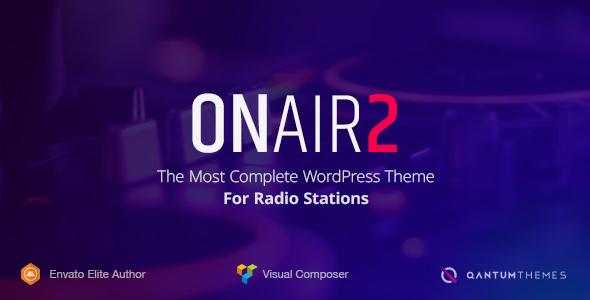 Download Onair2: Radio Station WordPress Theme Radio WordPress Themes