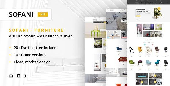 Download Sofani - Furniture Store WooCommerce WordPress Theme Furniture WordPress Themes