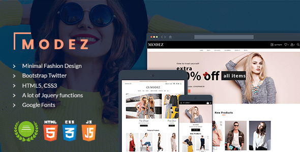 Download Modez - Minimal Responsive HTML Template for Fashion Shop Amazon Html Templates