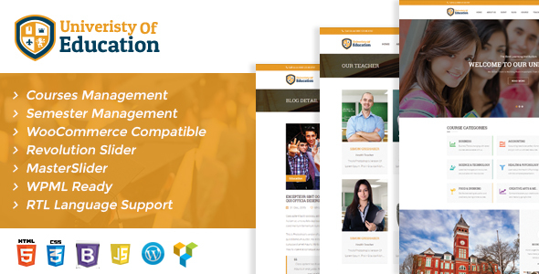 Download University of Education WordPress Theme - Courses Management WP University WordPress Themes