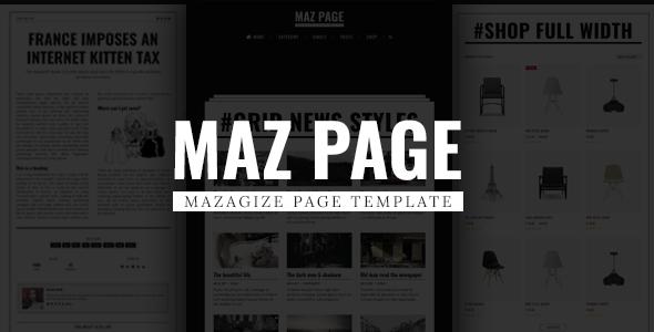 Download MazPage - Magazine, News, Blog, Shop, Newspaper Template Newspaper Html Templates