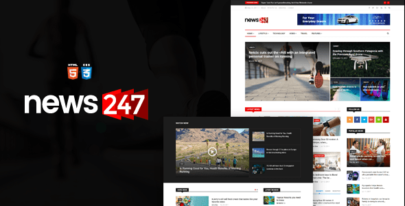 Download News247 - News Magazine HTML Template News Html Templates