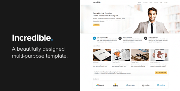 Download Incredible - Responsive HTML Template Responsive Html Templates