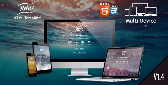 Download Relax - Coming Soon Template Youtube Html Templates