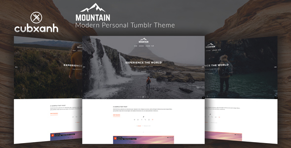 Download Mountain - Modern Personal Tumblr Theme Music Tumblr Themes