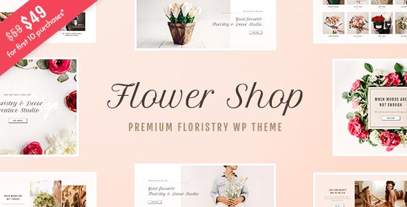 Download Flower Shop - Florist Boutique & Decoration Store WordPress Theme Store WordPress Themes