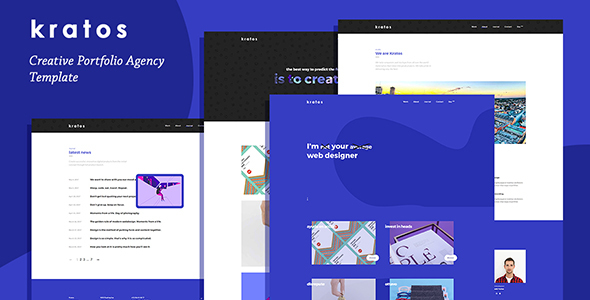 Download Kratos - Creative Portfolio Agency Template Store Blogger Templates