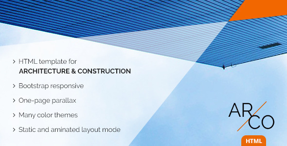 Download OnePage Architect Construction HTML Template | Arco Green Html Templates