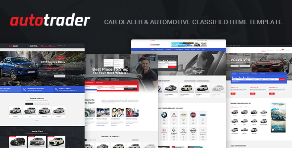 Download AutoTrader - Car Dealer and Automotive Classified HTML Template Car Html Templates