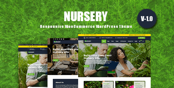 Download NurseryPlant - Responsive WooCommerce WordPress Theme Green WordPress Themes