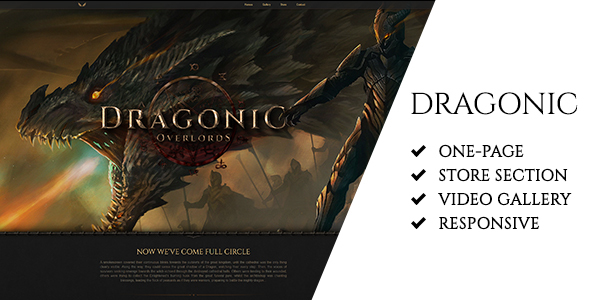 Download Dragonic: The Ultimate One-Page Premium Gaming Template Game Html Templates