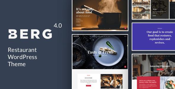 Download BERG - Restaurant WordPress Theme Restaurant Wordrpess Themes