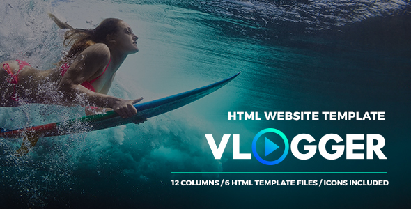 Download Vlogger - HTML Video Website Template for Youtubers, Online Courses and Video Makers Youtube Html Templates
