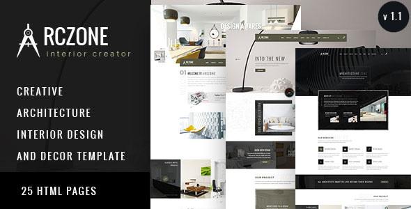 Download ARCZONE - Interior Design, Decor, Architecture HTML Template Interior Html Templates
