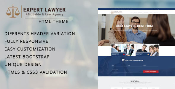 Download Lawyer - Company HTML Template Company Html Templates