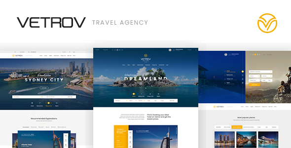 Download Vetrov - Hotels, Tours & Travel HTML Template Travel Html Templates