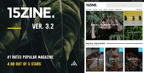 Download 15Zine - HD Magazine / Newspaper WordPress Theme Newspaper WordPress Themes
