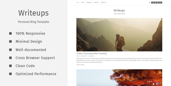 Download Writeups - Personal Blog Template Html5 Blogger Templates