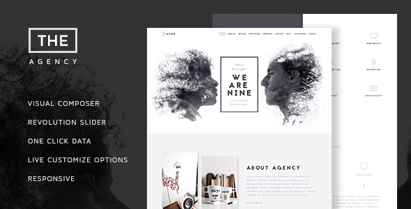 Download The Agency - Creative One Page Agency Theme 2 Column WordPress Themes