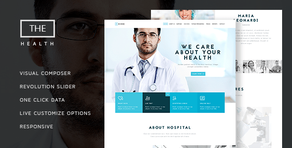 Download The Hospital - One and Multi Page Health Theme Hospital WordPress Themes