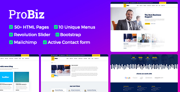 Download Probiz - Responsive Business HTML Template Amp Html Templates