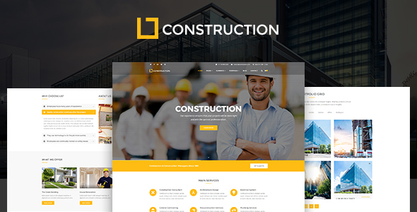 Download Construction - Business & Building Company WordPress Theme Company WordPress Themes