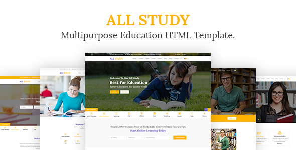 Download All Study- Multipurpose Education HTML Template Newspaper Html Templates