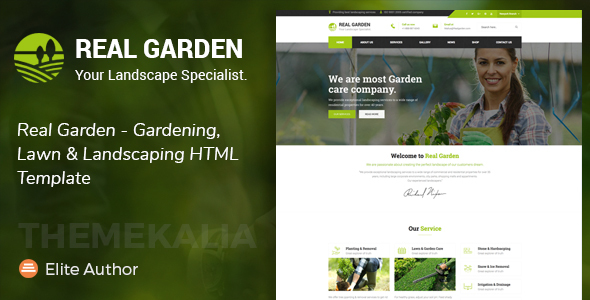 Download Real Garden - Gardening, Lawn & Landscaping HTML Template Amp Html Templates