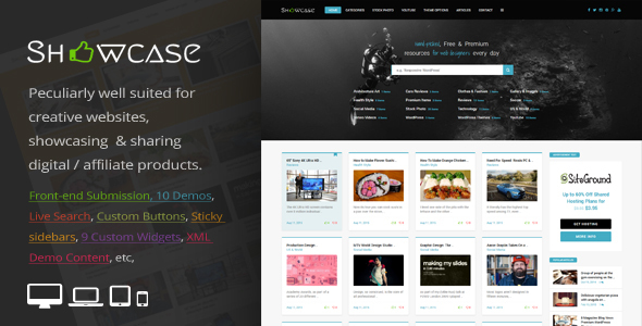 Download Showcase = Responsive WordPress Grid / Masonry Blog Theme Grid WordPress Themes