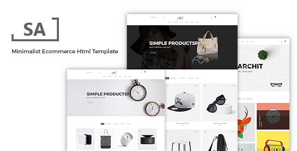 Download Sa - Minimalist eCommerce  Template Ecommerce Joomla Templates