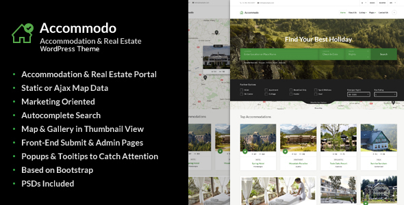 Download Accommodo - Accommodation Travel WordPress Theme Travel WordPress Themes