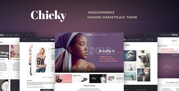 Download Chicky - WordPress Fashion Marketplace Theme Coming Soon WordPress Themes
