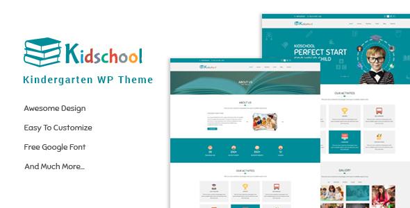 Download Kidschool - kids & Kindergarten school WordPress Theme School WordPress Themes