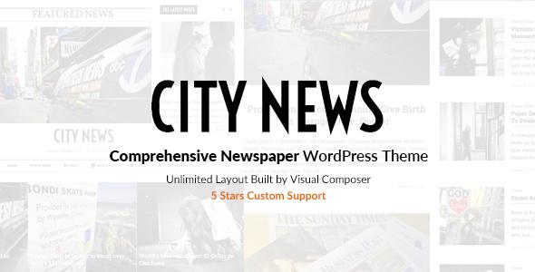Download CityNews - Comprehensive Newspaper WordPress Theme Newspaper WordPress Themes