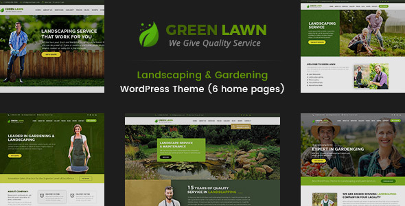 Download Green Lawn - Landscaping WordPress Theme Green WordPress Themes