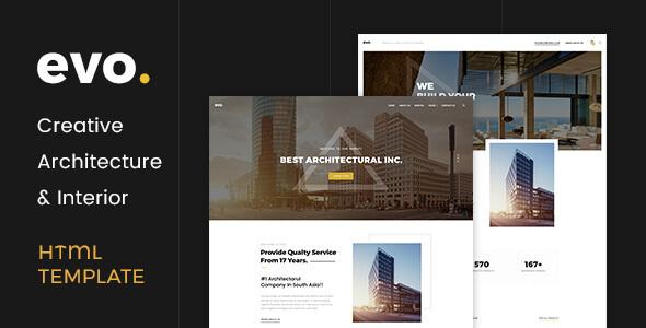 Download EVO - Creative Architecture & Interior HTML Template Interior Html Templates