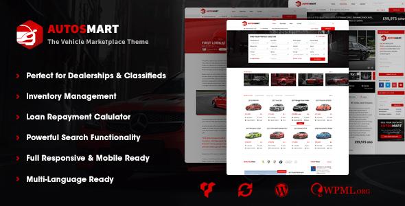Download AutosMart - Automotive Car Dealer WordPress Theme Car WordPress Themes