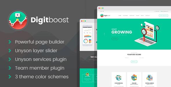 Download DigitBoost - SEO/Digital Company WordPress theme Company WordPress Themes
