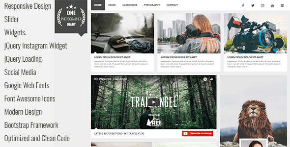 Download Patika - Responsive Blog HTML Template Blog Html Templates