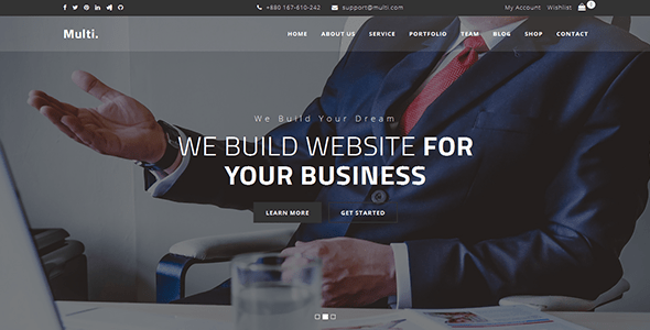 Download Multi - Onepage Business Template Onepage Blogger Templates