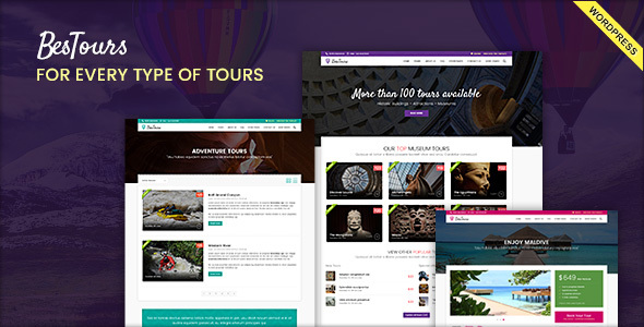 Download BESTOURS - Travel Multipurpose WordPress Theme Travel WordPress Themes