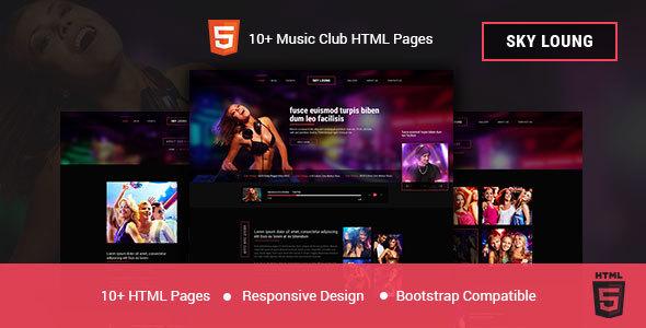 Download Sky Loung - DJ, Music, Club HTML Template Music Html Templates