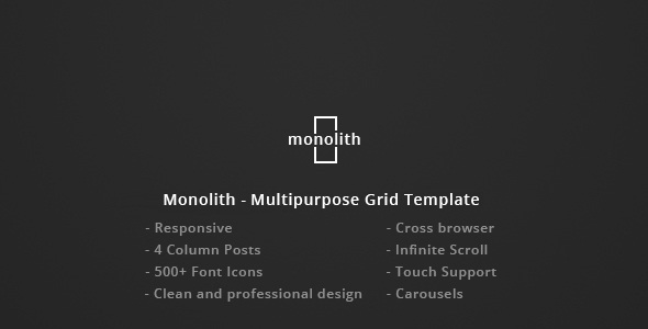 Download Monolith - Responsive Multipurpose Grid Template Music Blogger Templates